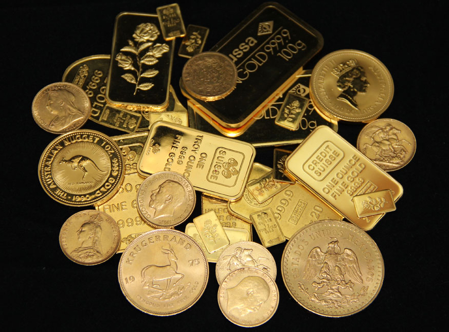 Gold Bars & Coins