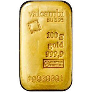 100 gram bullion bar